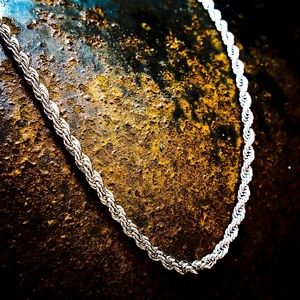 Stainless Steel 2mm Rope Necklace